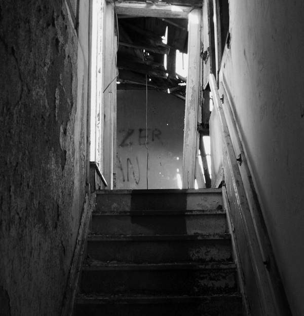 Stairs in the abandoned house